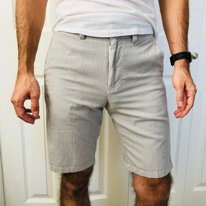 J. Crew Casual Grey White Stripe Club Short 29